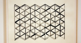 Triangular Grid Drawing -4- color adj